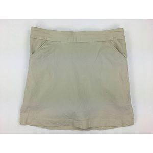 Coral Bay Women's Golf 8 Khaki Mini Skort Skirt